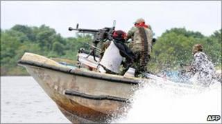 Nigeria oil militants (file photo)