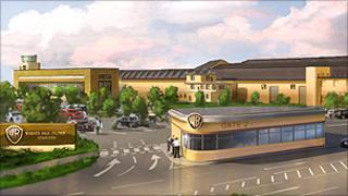 Artist's impression of Warner facilities