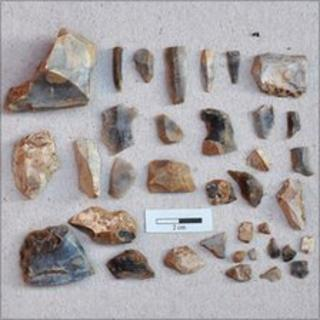 Some of the flints found
