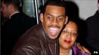 Comedian Richard Blackwood and his mother Juliette Giscombe