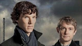 Benedict Cumberbatch as Sherlock Holmes and Martin Freeman as Doctor John Watson