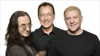 Geddy Lee, Neil Peart and Alex Lifeson of Rush