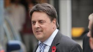 Nick Griffin at TV centre