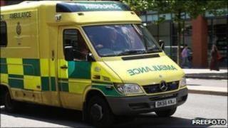 North West Ambulance Service (NWAS) vehicle