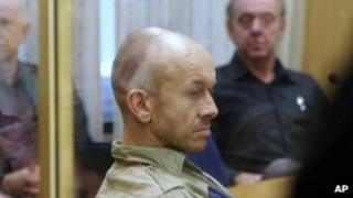 Peter Mangs in court in Malmo, 9 November