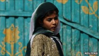 Afghan girl in Helmand province