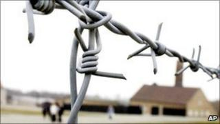 Barbed wire at the Buchenwald camp near Weimar, eastern Germany. File pic