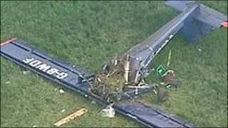 Wreckage of plane crash in Steane
