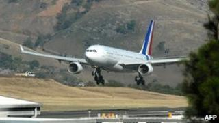 New official Airbus for President Nicolas Sarkozy last month in New Caledonia on a training flight