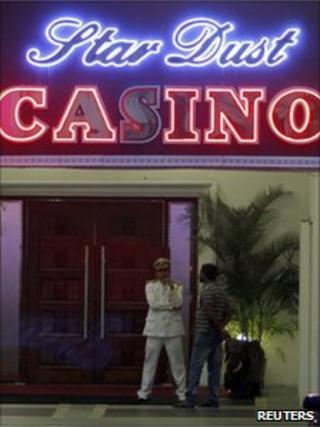 A casino in Colombo, Sri Lanka, 10 November 2010
