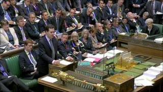 Coalition benches of the House of Commons