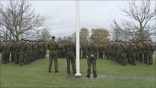 11 EOD Regiment RLC holding a field act of remembrance