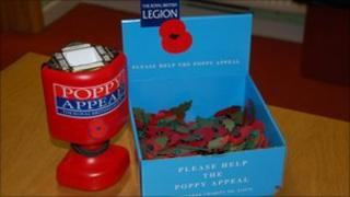 Royal British Legion Poppy Appeal collection box