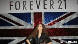 Amber Le Bon at the European launch of Forever 21