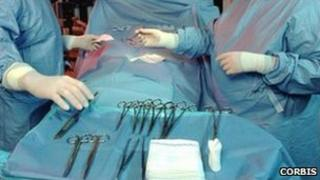 Surgeons performing an operation (generic image)