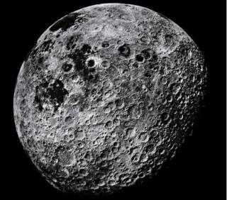 The Moon, showing part of its far side, photographed from the Apollo 16 spacecraft in April 1972