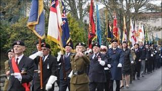 Guernsey Remembrance Day Parade 2009
