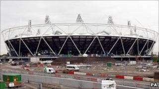 The Olympic Stadium in Stratford