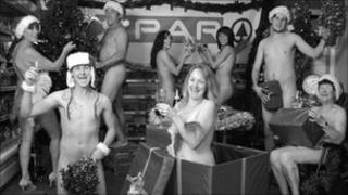 Local shop strips off for calendar