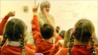 Children at a school in Oxfordshire