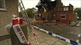 Flat destroyed by explosion