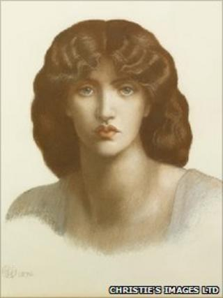 Dante Gabriel Rossetti (1828-1882) study of Jane Morris for Mnemosyne, 1876 Pastel on paper © Private collection c/o Christie's Images Ltd, 2010