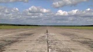 The runway at Szymany Airport, Poland