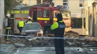 Scene of explosion in Barnstaple