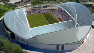 Artist's impression of the Falmer stadium