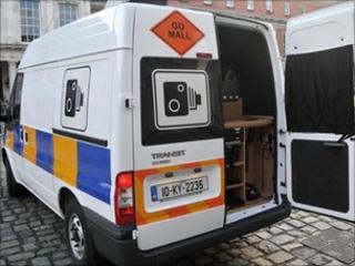 Speed camera van