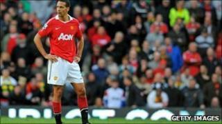 English defender Rio Ferdinand