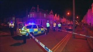 Scene of the crash in Weston-super-Mare