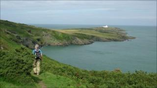 Part of the Anglesey coastal path at Point Lynas