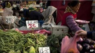 Vegetable market in Beijing