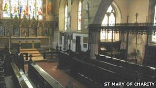 The chancel of St Mary of Charity