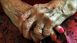 old ladies hands