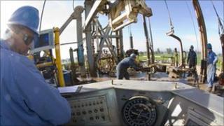 Oil exploration field in Egypt