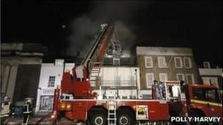 Fire crews tackle New Cross hostel fire