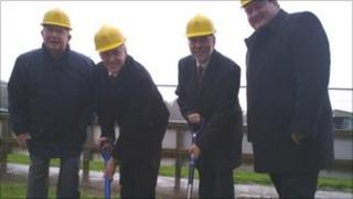 Ministers turn the first sod at Institute FC
