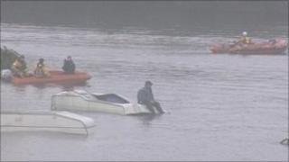 Flooding exercise at Hawley Lake
