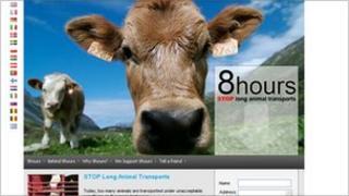 Campaign against long animal transports - Dan Jorgensen website (screen grab)