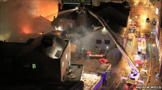 Nottingham city centre fire