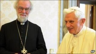 Dr Rowan Williams and the Pope