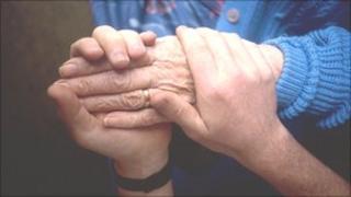 Generic caring hands
