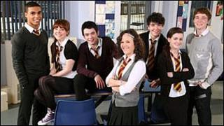 Cast members from Waterloo Road