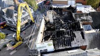 Damage to Card Factory building