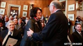 Elouise Cobell, shown last year with Interior Secretary Ken Salazar