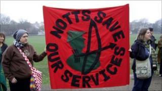Nottingham cuts protest