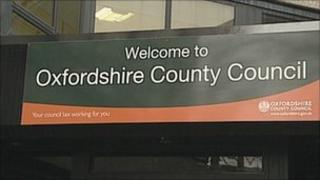 Oxfordshire County Council sign