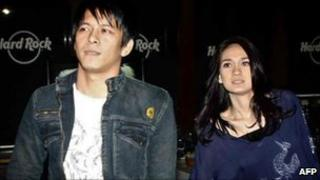 File image of Nazril Irham and Luna Maya in Jakarta on 14 July 2009